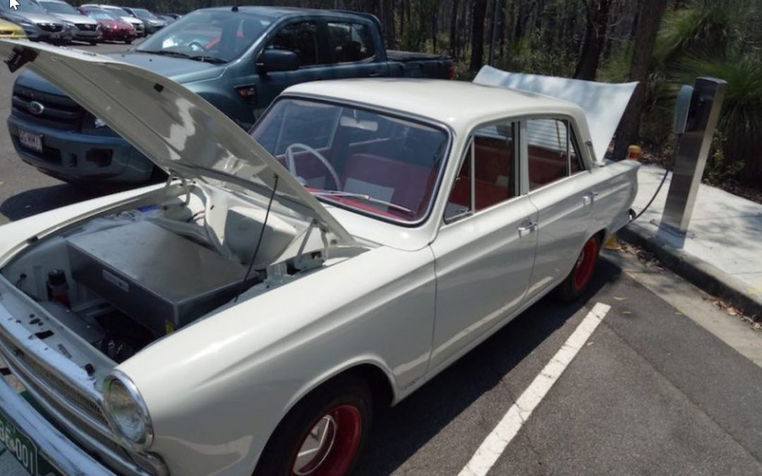 Retro-electrification, converting retro Ford to electric power.